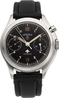 "Timepieces:Wristwatch, Lemania ""Royal Navy"" Military Chronograph, circa 1965. ..."