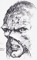 Original Comic Art:Sketches, Bernie Wrightson Swamp Thing Illustration Original Art (undated)....