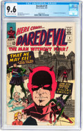 Silver Age (1956-1969):Superhero, Daredevil #9 (Marvel, 1965) CGC NM+ 9.6 Off-white to whitepages....