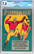Golden Age (1938-1955):Superhero, Bulletman #1 Allentown Pedigree (Fawcett Publications, 1941) CGC FN/VF 7.0 Cream to off-white pages....