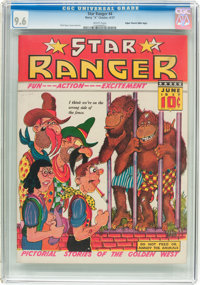 Star Ranger #4 Mile High Pedigree (Harry 'A' Chesler, 1937) CGC NM+ 9.6 White pages