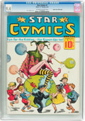 Platinum Age (1897-1937):Miscellaneous, Star Comics V1#1 Mile High Pedigree (Harry 'A' Chesler, 1937) CGCNM 9.4 Off-white to white pages....