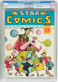 Star Comics V1#1 Mile High Pedigree (Harry 'A' Chesler, 1937) CGC NM 9.4 Off-white to white pages