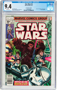 Star Wars #3 35 Cent Price Variant (Marvel, 1977) CGC NM 9.4 White pages