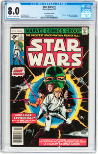 Star Wars #1 35 Cent Price Variant (Marvel, 1977) CGC VF 8.0 Off-white to white pages