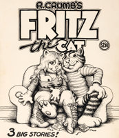 Featured item image of Robert Crumb R. Crumb's Fritz the Cat Cover Original Art (Ballantine, 1969)....