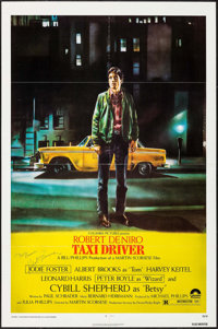 "Taxi Driver (Columbia, 1976). Autographed One Sheet (27"" X 41""). Crime"