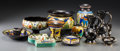 Ceramics & Porcelain, Continental:Modern  (1900 1949)  , Eleven Gouda Glazed Ceramic Table Items. 20th century. Stamped and incised Gouda, Holland, (various marks). Ht. 6-5/8 in. (t... (Total: 11 Items)