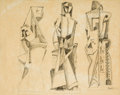 Works on Paper, José De Creeft (American, 1884-1982). Untitled, 1948. Ink and pencil on paper. 19 x 23-1/2 inches (48.3 x 59.7 cm) (sigh...