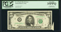 Error Notes:Attached Tabs, Cutting Error Fr. 1976-B $5 1981 Federal Reserve Note. PCGS VeryFine 35PPQ.. ...
