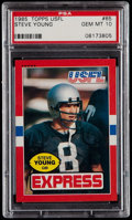 Football Cards:Singles (1970-Now), 1985 Topps USFL Steve Young #65 PSA Gem Mint 10....