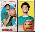 Basketball Cards:Lots, 1969 & 1970 Topps Lew Alcindor Rookie and 2nd Year Pair (2)....