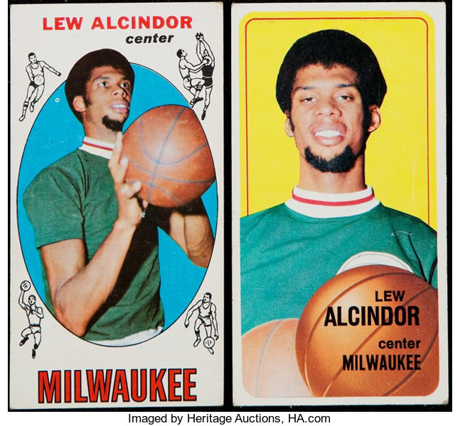 1969 1970 Topps Lew Alcindor Rookie And 2nd Year Pair 2