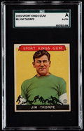 Football Cards:Singles (Pre-1950), 1933 Sport Kings Jim Thorpe #6 SGC Authentic....