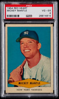 Baseball Cards:Singles (1950-1959), 1954 Red Heart Mickey Mantle PSA VG-EX 4....
