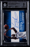 Basketball Cards:Singles (1980-Now), 2012-13 Panini Intrigue Dunk Company Autographs Kevin Durant #4 BGS Mint 9 - Serial #'d 21/49....