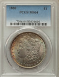 Morgan Dollars: , 1880 $1 MS64 PCGS. PCGS Population: (4531/1402). NGC Census: (4878/740). CDN: $125 Whsle. Bid for problem-free NGC/PCGS MS6...