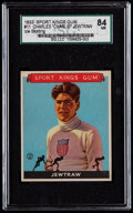 Miscellaneous Collectibles:General, 1933 Sport Kings Charles Jewtraw #11 SGC 84 NM 7....