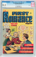 Golden Age (1938-1955):Romance, First Romance Magazine #2 File Copy (Harvey, 1949) CGC VF+ 8.5Cream to off-white pages....