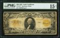 Large Size:Gold Certificates, Fr. 1187* $20 1922 Gold Certificate Star PMG Choice Fine 15 Net.. ...