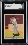 Baseball Cards:Singles (1940-1949), 1941 Play Ball Mel Ott #8 SGC 60 EX 5....
