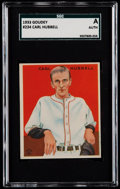 Baseball Cards:Singles (1930-1939), 1933 Goudey Carl Hubbell #230 SGC Authentic....