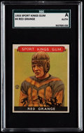 Football Cards:Singles (Pre-1950), 1933 Sport Kings Red Grange #4 SGC Authentic....
