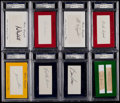 "Autographs:Index Cards, 2010 Historic Autographs - ""In Memory Of"" Index Card PSA/DNACollection (27)...."