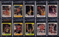Basketball Cards:Lots, 1985-86 Star Co. Basketball BGS Graded Collection (76)....