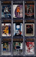 Basketball Cards:Lots, 1971-2008 Basketball and Golf Autograph, Insert, Rookie, &Relic Beckett Graded Collection (26)....