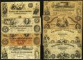 Obsoletes By State:Tennessee, TN - Lot of 13 Nashville Issued Banknotes. . ... (Total: 13 notes)