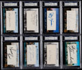 Autographs:Index Cards, 2012 Historic Autographs - New York Champions Index Card PSA/DNA Collection (20). ...