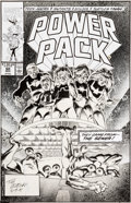 Original Comic Art:Covers, Tom Morgan Power Pack #60 Cover Original Art (Marvel,1990)....
