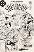 Original Comic Art:Covers, Kurt Schaffenberger and Dave Hunt New Adventures of Superboy#13 Cover Original Art (DC, 1981)....
