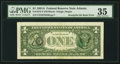 Error Notes:Third Printing on Reverse, Third Printing on Back Error Fr. 1912-F $1 1981A Federal Reserve Note. PMG Choice Very Fine 35.. ...
