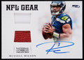 Football Cards:Singles (1970-Now), 2012 Panini National Treasures Rookie NFL Gear Russell WilsonAutograph Relic Card #7 - Serial #'d 3/49....
