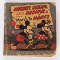 Big Little Book:Cartoon Character, Big Little Book #nn Mickey Mouse and Minnie March to Macy's(Whitman, 1935) Condition: GD/VG....