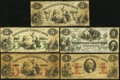 Obsoletes By State:Rhode Island, RI - Lot of 13 Rhode Island Issued Banknotes with Color Protectors. . ... (Total: 13 notes)
