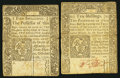 Colonial Notes:Connecticut, CT - Lot of 2 Connecticut October 10, 1771 Colonial CurrencyNotes.. ... (Total: 2 notes)