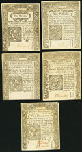 Colonial Notes:Connecticut, CT - Lot of 5 Connecticut June 19, 1776 Colonial Currency Notes.. ... (Total: 5 notes)