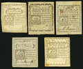 Colonial Notes:Connecticut, CT - Lot of 5 Connecticut October 11, 1777 Colonial Currency Notes. . ... (Total: 5 notes)