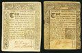 Colonial Notes:Connecticut, CT - Lot of 2 Connecticut March 1, 1780 40 Shillings Notes: Genuine and Counterfeit Comparison Pair.. ... (Total: 2 notes)