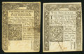 Colonial Notes:Connecticut, CT - Lot of 2 Connecticut Colonial Currency Notes.. ... (Total: 2notes)