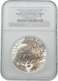 Explorers:Space Exploration, Apollo 13 Unflown PF65 Ultra Cameo NGC Silver Franklin Mint Medal,Serial Number 0107, Originally from the Personal Collection...