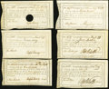 Colonial Notes:Connecticut, CT - Lot of 6 Connecticut Comptroller's-Office Certificates. . ...(Total: 6 notes)