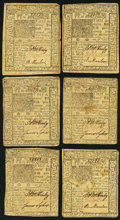 Colonial Notes:Delaware, DE - Lot of 6 Delaware January 1, 1776 10 Shillings Notes. . ...(Total: 6 notes)