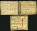 Colonial Notes:Massachusetts, MA - Lot of 3 State of Massachusetts May 5, 1780 Guaranteed by theUnited States Contemporary Counterfeit Notes.. ... (Total: 3 notes)