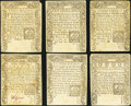 Colonial Notes:Connecticut, CT - Lot of 6 Connecticut March 1, 1780 Colonial Currency Notes..... (Total: 6 notes)