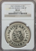 Anguilla, Anguilla: Provisional Government Counterstamped Liberty Dollar 1967MS62 NGC,...
