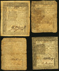 Colonial Notes:Delaware, DE - Lot of 4 Delaware Later-Date Colonial Currency Notes.. ...(Total: 4 notes)